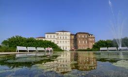 Die Landschaft der Gärten des königlichen Palastes von Venaria Stockfotografie