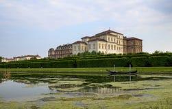 Die Landschaft der Gärten des königlichen Palastes von Venaria Lizenzfreies Stockbild