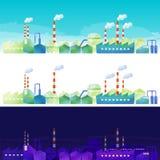 Die Landschaft des Industriegebiets Stockfotografie