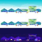 Die Landschaft des Lagerbezirkes Stockfoto