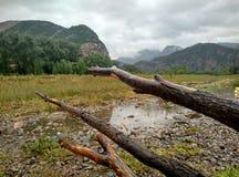 Die Landschaft im Regen Lizenzfreies Stockfoto