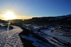 Die Landschaft in Island Stockbilder