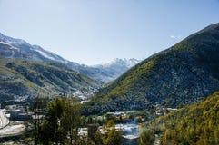 Die Landschaft in Kangding County von Sichuan-Provinz, China Stockfotos