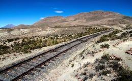 Die Landschaft nahe Sumbay, Süd-Peru Lizenzfreies Stockfoto