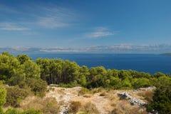 Die Landschaft um die Insel Stockfotos