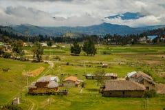 Die Landschaft um die Quilotoa-Lagune, Ecuador Stockfotografie