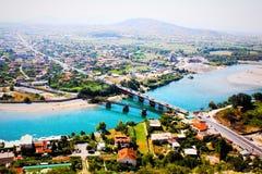 Die Landschaft von Albanien stockfotos