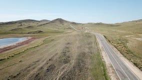 Die Landschaft von Olkhon-Insel stock video footage