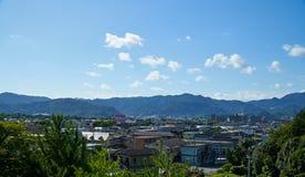 Die Landschaft von Yamaguchi-Stadt Stockbild