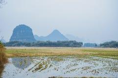 Die Landschafts- und Gebirgslandschaft im Herbst Stockfotografie