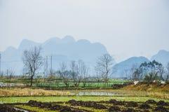 Die Landschafts- und Gebirgslandschaft im Herbst Lizenzfreie Stockfotos