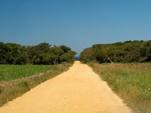 Die Landstraße zum Strand stockbild