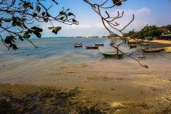 Die Landung des Fischereihafens Stockfoto