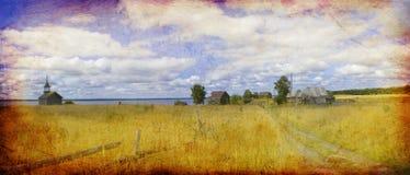 Die landwirtschaftliche Landschaft, Russland lizenzfreies stockbild