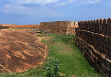 Die lange Wand des Forts Stockbilder