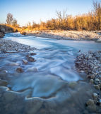Die langsame Wasserführung Stockfotos