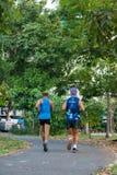 Die laufende Übung der Leute für Gesundheit im BangYai-Park, nicht stockfotos