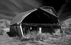 Die lehnende Scheune von Andover stockbilder