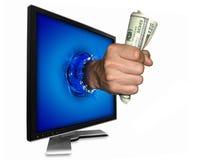 Die Leistung des Geldes lizenzfreies stockbild