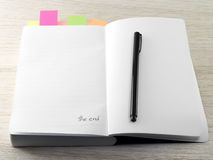 Die letzte Seite des Tagebuchs Stockfotos