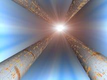 Die Leuchte am Ende des Tunnels Stockbilder
