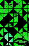 Die Leuchte im Schwarzen ummauert Hintergrund lizenzfreies stockfoto