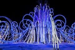 Die Leuchten des neuen Jahres Stockfotos