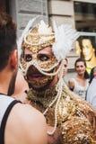 Die Leute, die an Mailand teilnehmen, Pride 2014, Italien Lizenzfreie Stockbilder