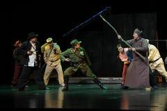 Die Leute, zum aufzulehnen Jiangxi-Oper eine Laufgewichtswaage Lizenzfreie Stockbilder