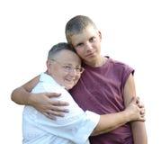 Die liebe Großmutter Stockfotos