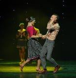 Die Liebe ist blind-Retro- Tanz-d Österreichs Welttanz Lizenzfreie Stockbilder