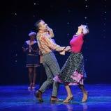 Die Liebe ist blind-Retro- Tanz-d Österreichs Welttanz Lizenzfreies Stockbild