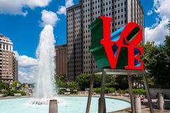 Die Liebes-Statue, Philadelphia Stockfotografie