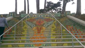 Die Lincoln Park-Treppe in San Francisco, Kalifornien Stockbilder
