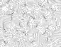 Die Linien sind gewellte Runde, ovale abstrakte Dunkelheit Vektorbeschaffenheits-Ellipsenmuster, lokalisierter weißer Hintergrund stock abbildung