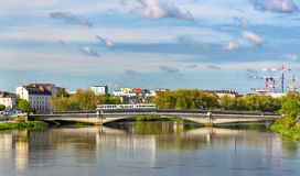 Die Loire in Nantes, Frankreich stockfotografie