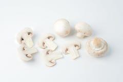 Die lokalisierten geschnittenen weißen Pilze Lizenzfreies Stockfoto