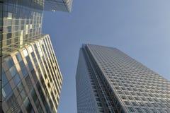 Die London-Skyline, Canary Wharf Stockfotografie