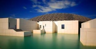 Die Louvrekunstgalerie in Abu Dhabi lizenzfreie stockbilder
