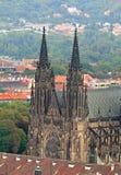 Die Luftaufnahme der Prag-Stadt Lizenzfreies Stockfoto