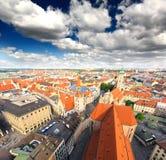 Die Luftaufnahme von München-Stadt cente lizenzfreies stockfoto