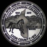 Die Lyon County Nevada Commemorative Münze Lizenzfreie Stockfotografie