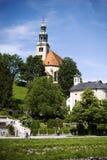 Die MÃ-¼ lln Gemeinde-Kirche in Salzburg Stockbild