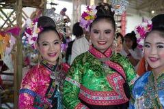 Die Mädchen mit Nord-Thailand-hilltribe Kleid Stockbild
