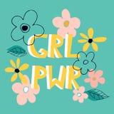 Die Mädchenenergie-Konzeptfahne vektor abbildung
