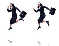 Die männliche Nonne im lustigen religiösen Konzept Stockfotos