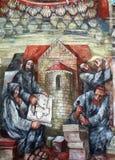Die Mönche errichteten eine Kirche in Hohenberg stockfotos