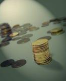Die Münzen! Stockfotos