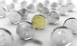 Die Münzen Lizenzfreie Stockfotografie