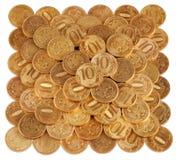 Die Münzen stockfoto